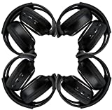 New arrival! 4 Pack of Two Channel Folding Universal Rear Entertainment System Infrared Headphones Wireless IR...