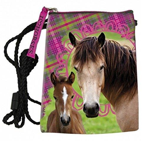 Maxi & Mini–Pferde Tasche Schulterriemen Halsumfang Pferd Pony Horses–Idee Geschenk