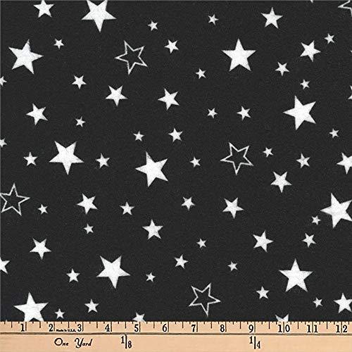 Robert Kaufman Kaufman Cozy Cotton Flannel Stars Black Fabric By The Yard