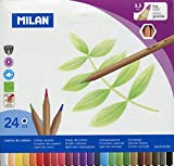 Milan 0722124 - Pack de 24 lápices de colores, mina grande