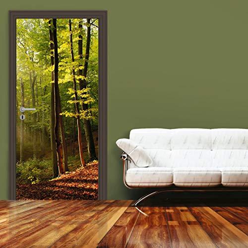 Dimex Türtapete Wald 95x210 cm | Türfolie selbstklebend - Türposter - Türaufkleber - Tür Fototapete | Premium QUALITÄT - Made in EU