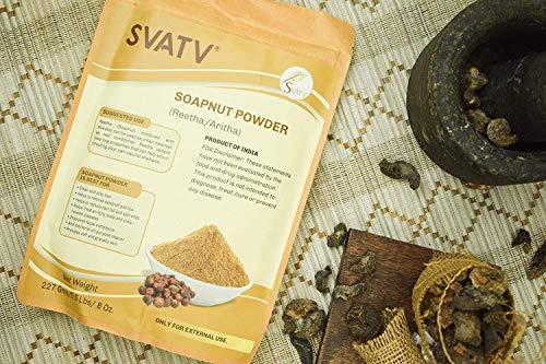 SVATV :: Reetha/Aritha Puder/Waschnuss Puder (Sapindus Laurifolia) FÜR SEIDIGE HAARE - (227 g) | Excellent Hair Conditioner