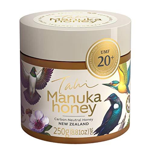 Tahi - Premium Manuka Honig - UMF20+ MGO829+ - Original und zertifiziert aus Neuseeland - 250g - Öko Honig aus Familienbetrieb