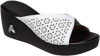 Chaussures Femmes Loisirs Plateforme Compensées Sandales Bouche De Poisson Pantoufles À Fond Épais