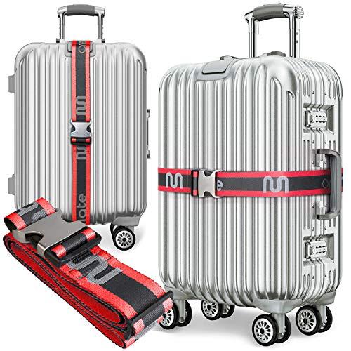 onemate  Juego de correas de equipaje de botellas de PET recicladas, correa de equipaje increíblemente resistente con hebilla de metal
