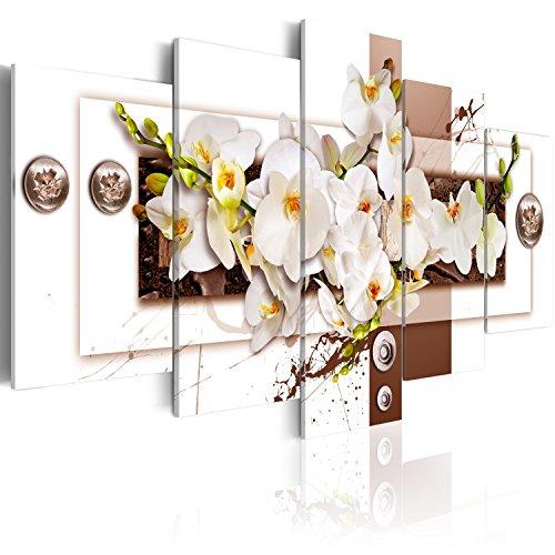 murando Acrylglasbild Blumen 100x50 cm 5 Teilig Wandbild auf Acryl Glas Bilder Kunstdruck Moderne Wanddekoration - Orchidee Abstrakt b-C-0150-k-o