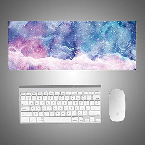 Preisvergleich Produktbild Kreative Marmormausunterlage bunter kühler sternenklarer Himmel des Computertischauflagen-Mausunterlagen-super großen Karikaturfragmentbüros