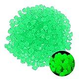 IPOUJ 10 unids/Paquete Luminoso Piedra Luminosa Cobblestone Home Decoraciones Jardín Decoración 14mm Piñas Brillantes Grava Green
