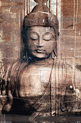 Trends International Thai Buddha Wall Poster, 22.375' x 34', Unframed Version