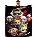 Xdazbmu 60 X 50 Inch Halloween Horror Movie Character Blanket