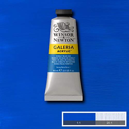 Winsor & Newton Galeria Acrylic Paint Medium Tube 60ml ALL COLOURS AVAILABLE (Cobalt Blue Hue) by Winsor & Newton