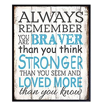 AA Milne Quote Wall Art Print - 8x10 Sentimental Saying Photo Poster for Bedroom Kids Boys Girls Baby Room Nursery Home Decor - Romantic Gift for Disney Winnie the Pooh Fans - Unframed
