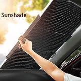N/A Parabrezza Retraibile per Auto Parasole, Lunotto Anteriore Anteriore Visiera Parasole, Protezione UV in Lega di Alluminio, Isolamento Solare E Termico, per SUV, Monovolume, Camion