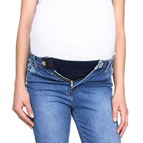 kangyh Cinturón de Embarazo 3 Piezas, elástico, cómodo, Color :Negro, Azul, Caqui