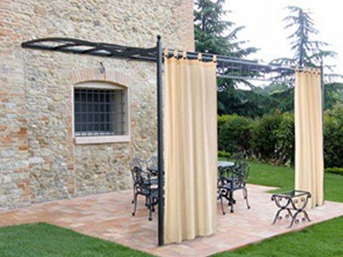 GIARDINI DEL RE Tente à Sardines pour extérieur – Tonnelle de Jardin 160 x 280 cm Écru