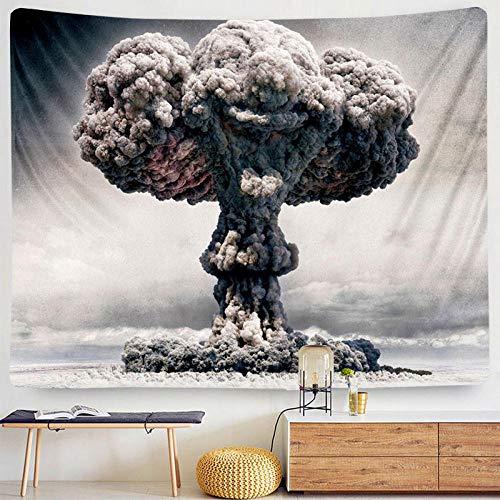YYZCM Tapiz psicodélico Tapicería Colgante Tapicería Nube volcánica tapices,cubrecamas,Adornos de Pared,Decoraciones -L/148cmx200cm