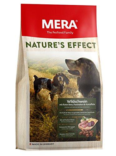 MERA NATURE´S EFFECT, Getreidefreies Hundefutter, Premium Trockenfutter für Hunde mit Wildschwein, Roter Bete, Pastinaken und Kartoffeln, 1er pack (1 x 3 Kg)