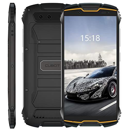 CUBOT Kingkong Mini Smartphone ohne Vertrag, 4G Outdoor Handy mit 4 Zoll Display, Dual SIM, Wasserdicht, Stoßfest und Staubdicht, 3GB+32GB, Android 9, Fcae-ID, Orange + Schwarz