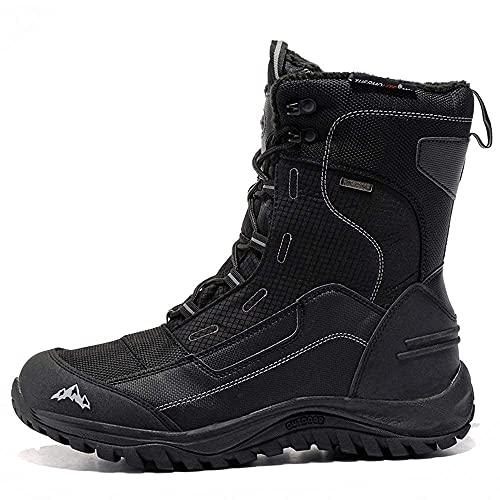 ROCKMARK Men's Waterproof Snow Boots Non-Slip Lightweight Trekking Outdoor Boots (10)