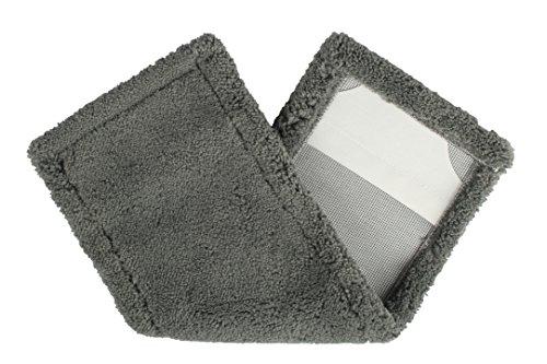 BELLANET Universal Microfaser Wischbezug Plüsch mit hoher Saugfähigkeit, 40cm, für alle gängigen Klapphalter, Farbe grau