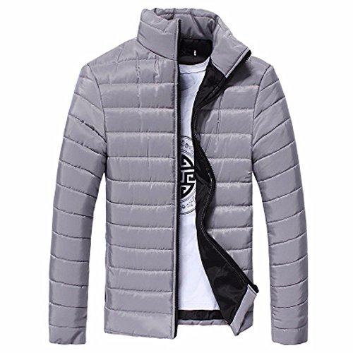 VPASS Abrigo Hombre Invierno,Cazadora de Hombre Abrigo de Stand Collar Slim de Invierno Caliente Chaqueta Tops Abrigo Capa Gruesa de Cremallera Cazadora Casual Outwear Jacket