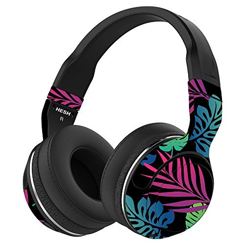 MightySkins Skin Compatible with Skullcandy Hesh 2 Wireless Headphones - Neon Tropics | Protective, Durable, and Unique Vinyl wrap Cover | Easy to Apply, Remove, and Change Styles | Made in The USA