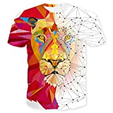 T-Shirt Hombres Verano Cuello Redondo Novedad Hombres Shirt Estilo Hip Hop 3D Creativo Abstracto Impresión Hombres Ocio Shirt Deporte Tendencia Manga Corta Hombres Streetwear T01 6XL
