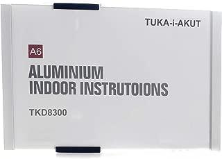 TUKA-i-AKUT A6 Placa para Puerta, Aluminio y Cubierta de Acrílico, Señal de Puerta de Oficina, Letrero 149mm x 105mm, Letrero de Información, Montaje Atornillado o Fijación Adhesiva, TKD8300-A6