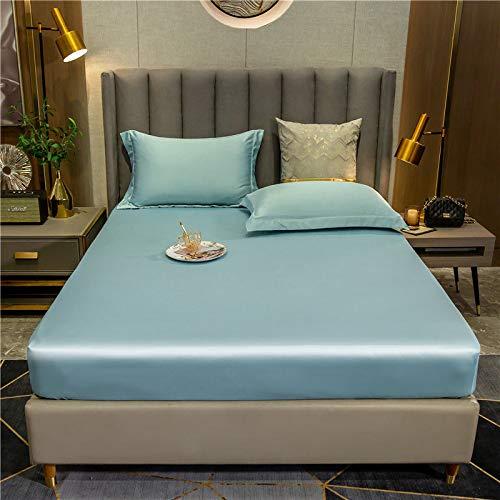haiba Protector de colchón impermeable, ajustable, transpirable, a prueba de manchas, hipoalergénico y no ruidoso, fácil ajuste, tamaño king 180 x 200 cm