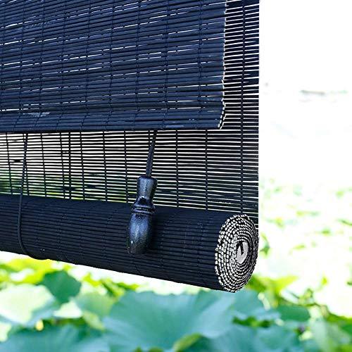 JXJ Cortinas enrollables de bambú para Cocina de Interior, Cortina elevadora doméstica con Filtro de luz para balcón, Ventana de la Sala de Estar, sombrilla Ancha de 60/80/90/100/120 cm G5105 (t