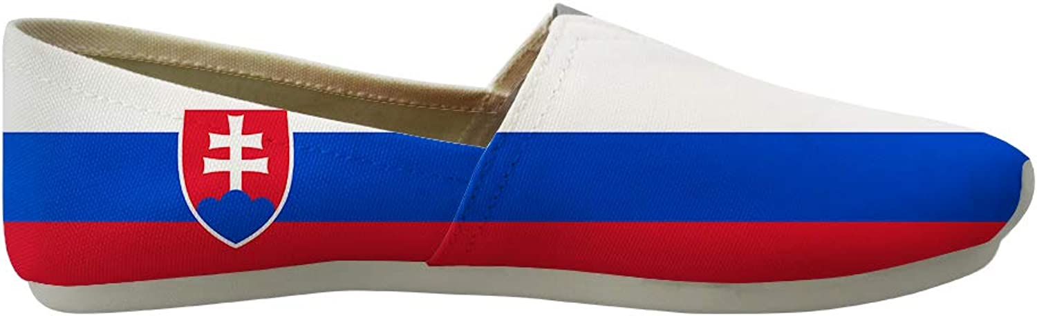 Owaheson Classic Canvas Slip-On Lightweight Driving shoes Soft Penny Loafers Men Women Slovakia Flag