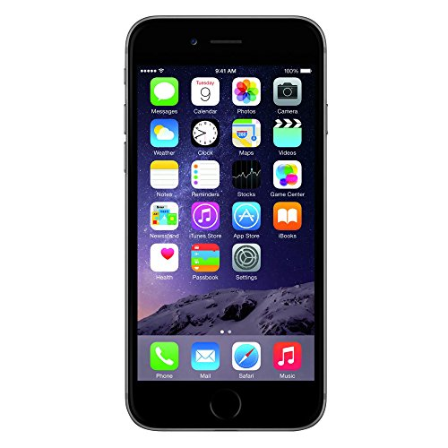 Apple iPhone 6 Plata 16 GB (Renewed)