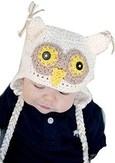 Kids Baby Boy Girl Crochet Sleepy Owl Hat Beanie Photography Props