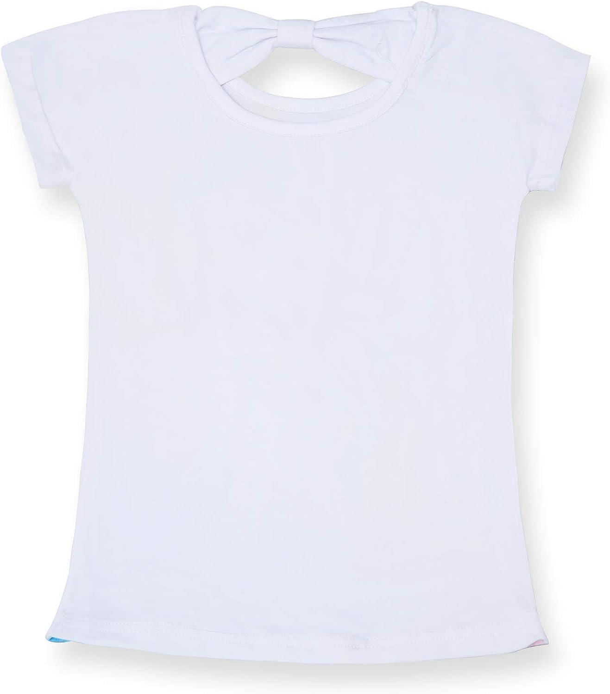 TTYAOVO T-Shirt en Coton de Licorne pour Filles Impression de F/ête danniversaire de Licorne T-Shirt D/écontract/é /à Manches Courtes pour Enfants d/ét/é
