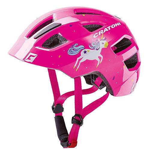 Cratoni Fahrradhelm für Kinder Maxster - in vielen Farben (Unicorn pink Glossy, XS-S (46-51 cm))
