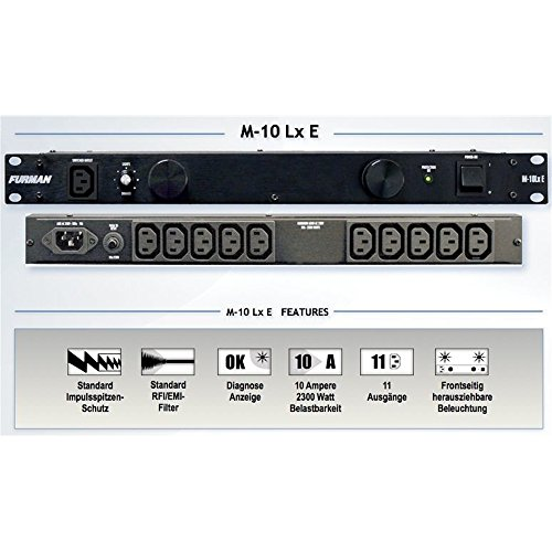 Best Price Square Power Conditioner, Rack Mount M-10LX E by Furman