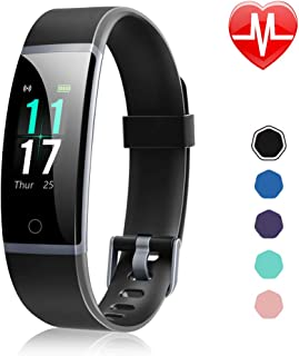 Fitness Tracker, Activity Tracker Watch with Heart Rate Monitor, Waterproof IP68 Smart Watch with Step Counter, Calorie Counter, Call & SMS Pedometer Watch for Women Men Kids
