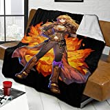 KATHERINECOLE Decorative Extra Soft Blanket Queen Size 50'x40',Solid Reversible Fuzzy Lightweight Long Hair Shaggy Blanket,Fluffy Cozy Plush Fleece Comfy Microfiber Blanket - RWBY Yang Xiao Long
