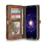 Samsung Galaxy S8 Leder Case Hülle mit Kartenfächer Geldscheinfach mit Reißverschluss Magnet...