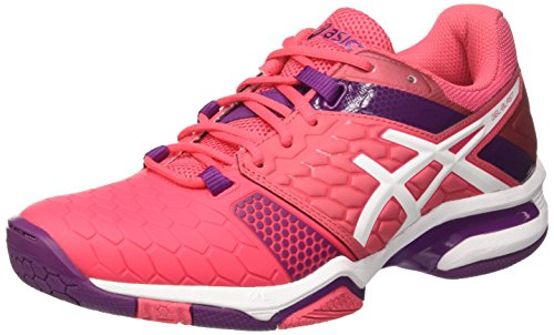 ASICS Damen Gel-Blast 7 Hallenschuhe, Pink (Rouge Red/White/Prune), 39 EU