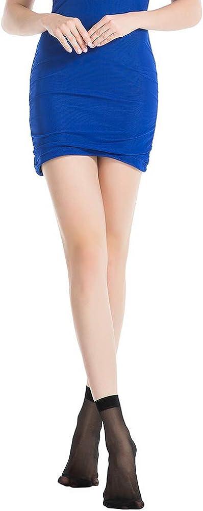 Buy MANZI Womens Everyday Reinforced Toe Sheer Ankle High