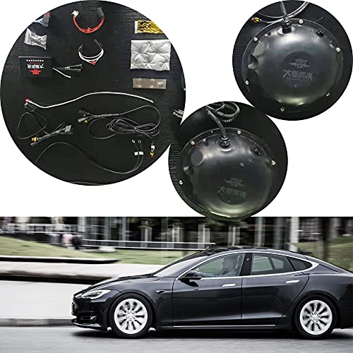 Tesla Exhaust Sound System, Non-Destructive Installation, 3 Types Of Exhaust Systems, Remote Control/Bluetooth Control, Suitable Suitable exhaust system for all Tesla models (UFO+ airplane sounds-C)