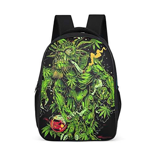 Dofeely groene druk dagrugzak schooltas laptop lichtgewicht schooltas kinderen jongeren dames heren sporttas voor wandelen outdoor 32 cm x 18 cm x 42 cm zwarte achtergrond