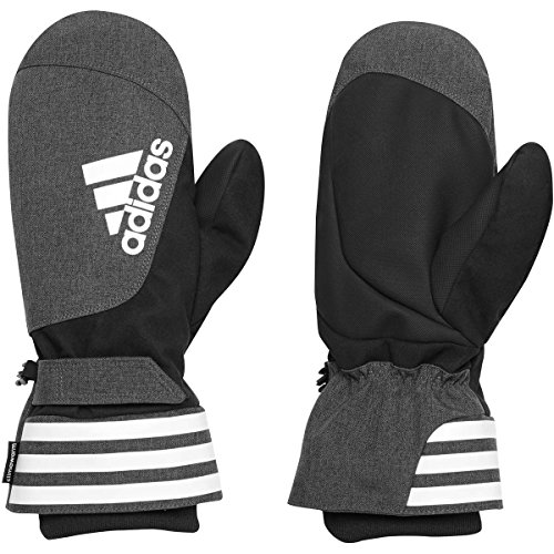Adidas Golf Mens ClimaHeat Mitts Water Resistant Golf Gloves Mittens One Size Black/Grey