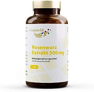 Pack de 3 Rhodiola Rosea 500mg 3 x 120 Cápsulas Vegetales - Vita World Farmacia Alemania
