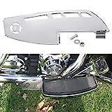 Motorcycle Rider Footboard Heel Guard for Road Glide Road King Electra Glide Street Glide Ultra Limited FLHTK Fat Boy Tri Glide Ultra, Chrome