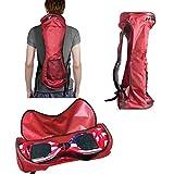 GameXcel Self-Balancing Scooter Carrying Backpack Bag for 6.5' 7' and 8' Two-Wheel Hover Board Bag Smart Balancing Scooters Storage Mesh Pocket Adjustable Shoulder Strap Red