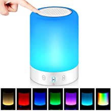 Bluetooth Speakers,POECES Hi-Fi Portable Wireless Stereo Speaker with Touch Control 6 Color LED Themes,Best Gift for Women...