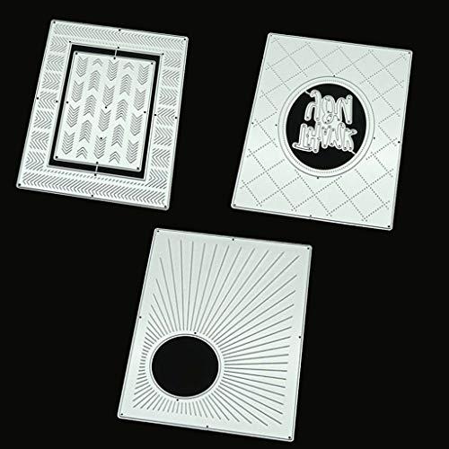 llwei258 3 Stukken Snijden Dies Metalen Stencils Scrapbooking Tool DIY Craft Koolstofstaal Embossing Sjabloon voor Papieren Kaart Maken