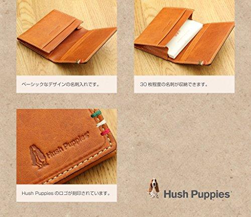 (ハッシュパピー)HushPuppiesイタリアンレザー「ラリー」名刺入れキャメル